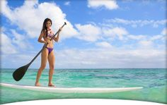 I'd love to be able to paddle board in my bikini #AlanasCloset