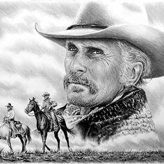 Original pencil drawing Robert Duvall as Augustus McCrae Work in progress Realistic Drawings, My Drawings, Dark Crystal Movie, Lonesome Dove, Apocalypse Art, Cowboy Pictures, Robert Duvall, Celebrity Drawings, Cowboy Art