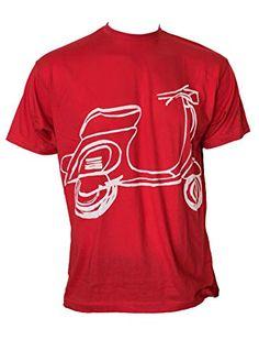 Berlato Vespa ROJA Talla XL(75/60 cm) Camiseta de Hombre 100% algodón, Man Cotton t-Shirt. Berlato Vespa, Man, Mens Tops, T Shirt, Fashion, Cotton T Shirts, Men, Wasp, Moda