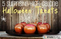 5 Surprisingly High-Cal Halloween Treats. Some of these are downright SCARY!! | via @SparkPeople #diet #weightloss #nutrition #Halloween #healthyliving
