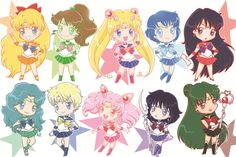 Sailor Scouts Super Chibis by batmanorama.deviantart.com on @deviantART