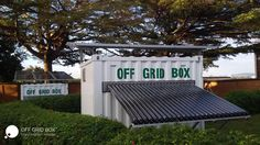 OffGridBox is a solar-powered container solution that provides clean energy and drinking water where it's needed most. Off Grid Electric, Water Issues, Solar Water, Sustainable Energy, Wind Power, Water Systems, Game Changer, Drinking Water, All In One