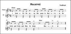 """Macaroni"" singing game that emphasizes pitch-matching, sol-mi melody, and steady beat bordun. Kindergarten Music, Preschool Music, Kindergarten Lessons, Music Activities, Teaching Music, Movement Activities, Teaching Resources, Singing Games, Singing Lessons"