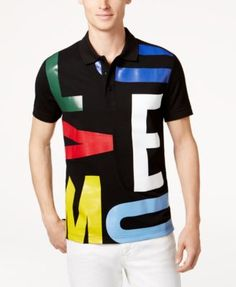 MOSCHINO Moschino Men'S Graphic-Print Polo Shirt. #moschino #cloth # polos