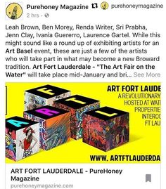 Thank you for the love @purehoneymagazine! Make sure to grab your copy and get your Art Fort Lauderdale poster!  More info: @artfortlauderdale  http://ift.tt/2hesLcl #losolas #artftl #artftlauderdale #artfortlauderdale #fortlauderdale #ftlauderdale #artfair http://ift.tt/OBuN4L . . . . #ArtFortLauderdale #ArtFTL #Art #Choose954 #HelloSunny #SupportLocal #Community #FTL #FTLauderdale #FortLauderdale #Broward #BrowardCounty #Florida #LoveFlorida #Like #Love #ig #Culture #Follow #igersFTL…