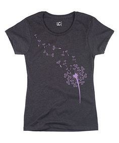 Look what I found on #zulily! Heather Charcoal Dandelion Seed Tee by Sharp Wit #zulilyfinds