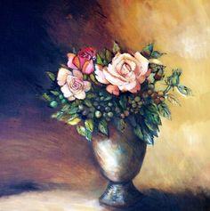 Three roses by Liesel Brune