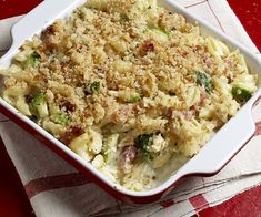 Three-Cheese Macaroni with Brussels Sprouts and Pancetta - Basically our favourite mac and cheese ever!