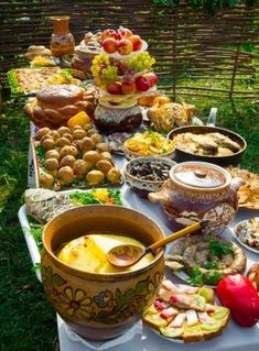 Picture of Traditional ukrainian food in assortment in festive decorating on the table stock photo, images and stock photography. Ukrainian Recipes, Ukrainian Food, Ukraine, Festival Decorations, Alternative Medicine, Food And Drink, Yummy Food, Meals, Traditional