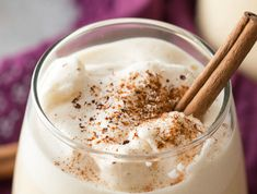 This light and deliciously creamy homemade eggnog can be made in just 5 minutes in your blender! Nothing hits the holiday spot more than a cup of eggnog!