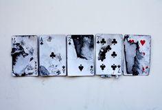 7 Hearts - Byron, 7 Clubs - Mary, 2 Spades - Clara, Ace Clubs - Tone, Joker…