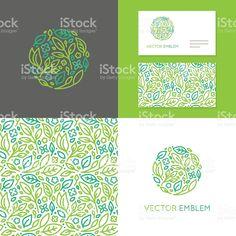 Vector abstract emblem for organic shop illustracion libre de derechos libre de derechos
