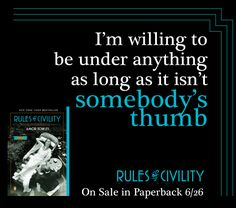 Under anything #RulesofCivility