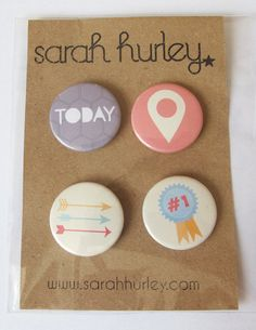 Today 1 Flair Pin Badges / Buttons by Sarah Hurley  by SarahHurley #BPCPLcommunity#Projectlifeideas #Projectlife