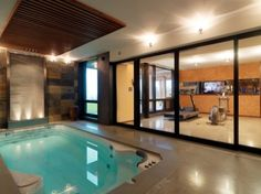 Basement Exercise Workout Room