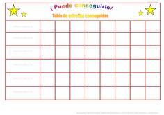 Conjunto de tablas y recortables con pictogramas de ARASAAC, basadas en el sistema de economía de fichas, para trabajar el control y la autorregulación de la c…
