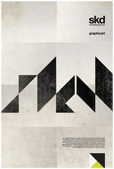 minimalistic poster design in black and beige – geometrical | typography / graphic design: steve kelly |