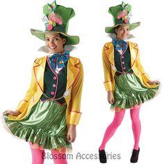 CL611 Ladies MAD Hatter TEA Party Alice IN Wonderland Fancy Dress Adult Costume | eBay