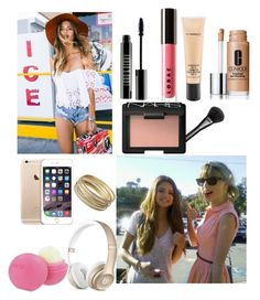 """""""Celebrity Rush"""" by kool-aid-babe ❤ liked on Polyvore featuring Eos, Steve Madden, Lord & Berry, LORAC, MAC Cosmetics, Clinique, Gucci and NARS Cosmetics"""