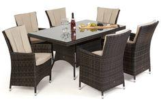 LA 6 Seat Dining Set - Koncept Furnishing Dining Set, Garden Furniture, Mirrors, Wall Art, Pictures, Dinning Set, Outdoor Garden Furniture, Photos, Dinner Ware