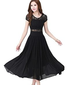 LATUD Women's Bohemia Ankle Length Long Bridesmaid Chiffon Dress Black LATUD Women Clothes http://www.amazon.com/dp/B00V672ACW/ref=cm_sw_r_pi_dp_Gb.Uvb1X72WQH
