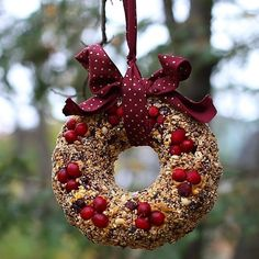 If you want to put birdseed out at you house, why not skip the usual bird houses and make a pretty wreath for your feathered friends instead! By using a bundt pan, you can mold a bird feeder that can easily hang outside.The birds in your neighborhood are going to love it! Try out this craft to br...