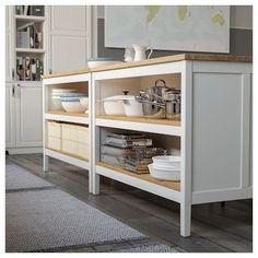 Kitchen Cabinet Storage, Storage Cabinets, Countryside Kitchen, Freestanding Kitchen, Kitchen Pictures, Kitchen Ideas, Kitchen Decor, Traditional Kitchen, White Oak