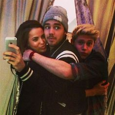 just hugging with my boyfrnd niall and his friend