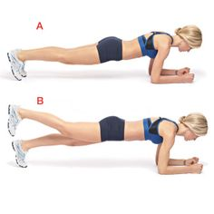 single leg plank - core, butt, etc