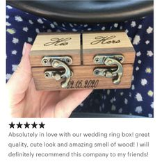 Pictures that were send to me by happy customers! handmade from raw materials Customized Engraving Wood Guest Book, Rustic Wedding Guest Book, Vintage Ring Box, Proposal Ring Box, Wooden Ring Box, Ring Holder Wedding, Ring Bearer Box, Raw Materials, As You Like