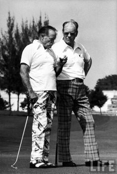 Bob Hope and Gerald Ford. Golf