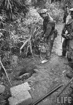 Local commandos of french Army in Indochine with french MAS38 SMG.