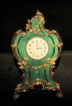 Vintage Stuff and Antique Designs Art Nouveau, Clock Antique, Faberge Jewelry, Old Clocks, Vintage Clocks, Faberge Eggs, Time Clock, Grandfather Clock, Desk Clock