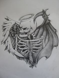 good vs evil tattoo designs - Google Search