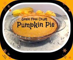 Gluten Free A-Z Blog: Pumpkin Pie with Grain Free Crust