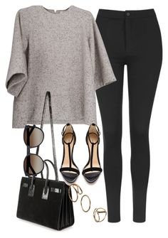 """""""Untitled #3293"""" by glitter-the-world ❤ liked on Polyvore featuring Topshop, Yves Saint Laurent and Alexandre Birman"""