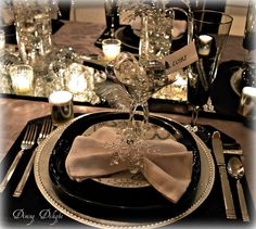 New Year's Eve Table Setting