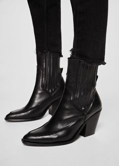 Fashion Tips Dresses Leather cowboy ankle boots Cowboy Boot Outfits, Ankle Cowboy Boots, Leather Ankle Boots, Knee High Boots, Cowboy Shoes, Calf Boots, Leather Sandals, Wedge Sandals, Riding Boots
