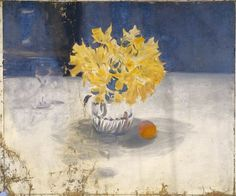 John Singer Sargent, Daffodils in a Vase, Painting, American, 19th century | Harvard Art Museums