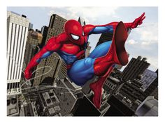 Spider-Man Swinging In the City Prints at AllPosters.com