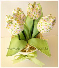 lembrancinha dia das maes vasinho flores tulipa tecido (1)