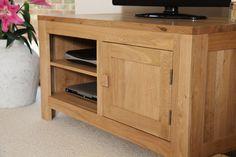 Oakdale Solid Oak Furniture Range Media Units | Oak DVD & TV Stand Oak Furniture Land www.oakfurnitureland.co.uk
