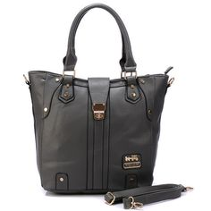 Coach Turnlock Medium Grey Satchels BBS Give You The Best feeling!