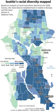 Where does your Seattle neighborhood fall in this 'diversity index'? Check the map | The Seattle Times