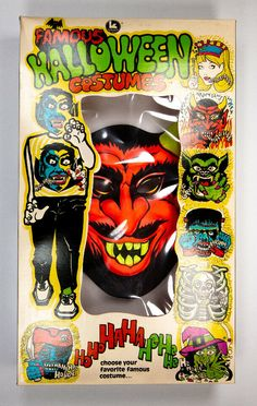 Vintage Devil Halloween Mask Costume Kusan Collegeville Ben Cooper Demon Satan #Kusan Devil Halloween, Halloween Masks, Vintage Halloween, Boxer, Ships, Business, Ebay, Fictional Characters, Art