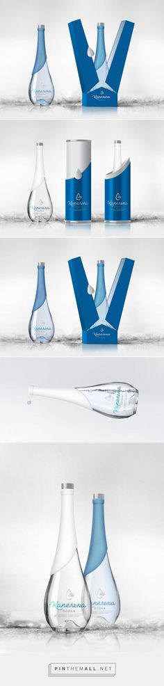 Droplet Vodka packaging design by BrandPa - http://www.packagingoftheworld.com/2017/09/droplet-vodka.html