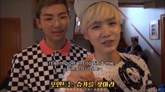 BTS Suga x Rap Monster : We're proud of each other!
