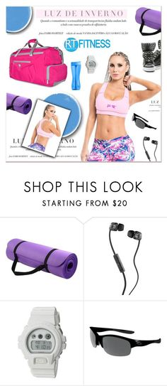 """Love the way you move"" by janee-oss ❤ liked on Polyvore featuring Trimr, Skullcandy, G-Shock and Oakley"
