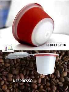 Capsulas Rellenables DE Cafe Emohome Para Nespresso Dolce Gusto Recargables | eBay