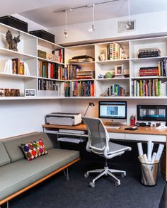 Case Study Daybed by Modernica in the small home office [Design: Patrick Brian J. - Case Study Daybed by Modernica in the small home office [Design: Patrick Brian Jones] -
